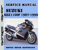 Thumbnail Suzuki GSX1100F 1987-1993 Service Repair Manual Pdf Download