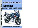 Thumbnail Suzuki GSX-R1000 2000-2001 Service Repair Manual Pdf