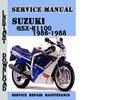 Thumbnail Suzuki GSX-R1100 1986-1988 Service Repair Manual Pdf