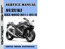 Thumbnail Suzuki GSX-R600 2011-2012 Service Repair Manual Pdf Download