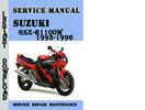 Thumbnail Suzuki GSX-R1100W 1993-1996 Service Repair Manual Pdf