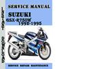Thumbnail Suzuki GSX-R750W 1992-1995 Service Repair Manual Pdf