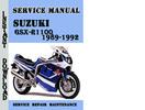 Thumbnail Suzuki GSX-R1100 1989-1992 Service Repair Manual Pdf