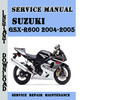 Thumbnail Suzuki GSX-R600 2004-2005 Service Repair Manual Pdf Download