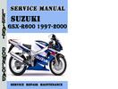 Thumbnail Suzuki GSX-R600 1997-2000 Service Repair Manual Pdf Download