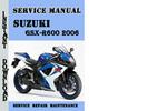 Thumbnail Suzuki GSX-R600 2006 Service Repair Manual Pdf Download