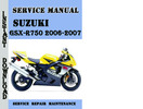 Thumbnail Suzuki GSX-R750 2006-2007 Service Repair Manual Pdf Download