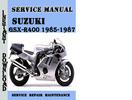 Thumbnail Suzuki GSX-R400 1985-1987 Service Repair Manual Pdf Download