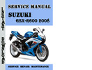 Thumbnail Suzuki GSX-R600 2008 Service Repair Manual Pdf Download