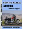 Thumbnail Suzuki GZ250 1998 Service Repair Manual Pdf Download