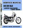 Thumbnail Suzuki LS650 SAVAGE 1984-2004 Service Repair Manual Pdf