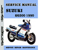 Thumbnail Suzuki RG500 1990 Service Repair Manual Pdf Download