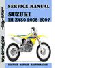 Thumbnail Suzuki RM-Z450 2005-2007 Service Repair Manual Pdf Download