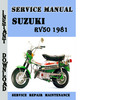 Thumbnail Suzuki RV50 1981 Service Repair Manual Pdf Download