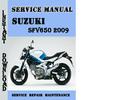 Thumbnail Suzuki SFV650 2009 Service Repair Manual Pdf Download