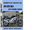 Thumbnail Suzuki SV1000S 2003 Service Repair Manual Pdf Download
