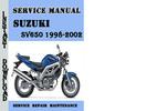 Thumbnail Suzuki SV650 1998-2002 Service Repair Manual Pdf Download