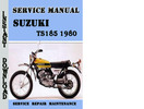 Thumbnail Suzuki TS185 1980 Service Repair Manual Pdf Download