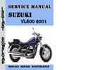 Thumbnail Suzuki VL800 2001 Service Repair Manual Pdf Download