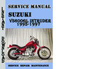 Thumbnail Suzuki VS600GL Intruder 1995-1997 Service Repair Manual Pdf