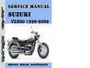 Thumbnail Suzuki VZ800 1996-2002 Service Repair Manual Pdf Download