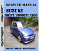 Thumbnail Suzuki Swift 1300GTI 1988 Service Repair Manual Pdf Download