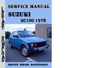 Thumbnail Suzuki SC100 1978 Service Repair Manual Pdf Download