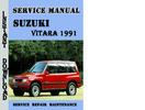 Thumbnail Suzuki Vitara 1991 Service Repair Manual Pdf Download