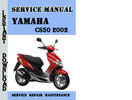 Thumbnail Yamaha CS50 2002 Service Repair Manual Pdf Download