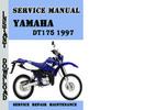 Thumbnail Yamaha DT175 1997 Service Repair Manual Pdf Download