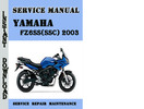 Thumbnail Yamaha FZ6SS(SSC) 2003 Service Repair Manual Pdf Download