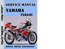 Thumbnail Yamaha FZR400 Service Repair Manual Pdf Download