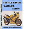 Thumbnail Yamaha FZR600 Service Repair Manual Pdf Download