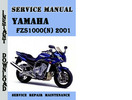 Thumbnail Yamaha FZS1000(N) 2001 Service Repair Manual Pdf Download