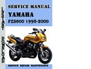 Thumbnail Yamaha FZS600 1998-2000 Service Repair Manual Pdf Download