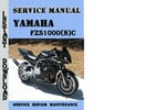 Thumbnail Yamaha FZS1000(N)C Service Repair Manual Pdf Download