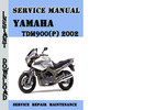 Thumbnail Yamaha TDM900(P) 2002 Service Repair Manual Pdf Download