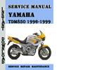 Thumbnail Yamaha TDM850 1996-1999 Service Repair Pdf Download