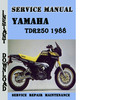 Thumbnail Yamaha TDR250 1988 Service Repair Manual Pdf Download