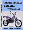 Thumbnail Yamaha TT350S 1985 Service Repair Manual Pdf Download