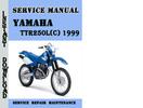 Thumbnail Yamaha TTR250L(C) 1999 Service Repair Manual Pdf Download