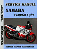 Thumbnail Yamaha TZR250 1987 Service Repair Manual Pdf Download