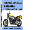 Thumbnail Yamaha XJR1300(L) 1999 Service Repair Manual Pdf Download
