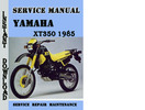 Thumbnail Yamaha XT350 1985 Service Repair Manual Pdf Download