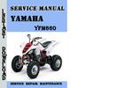 Thumbnail Yamaha YFM660 Service Repair Manual Pdf Download