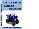 Thumbnail Yamaha YFM50S 2003 Service Repair Manual Pdf Download