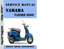 Thumbnail Yamaha YJ50RN 2000 Service Repair Manual Pdf Download