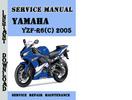 Thumbnail Yamaha YZF-R6(C) 2005 Service Repair Manual Pdf Download