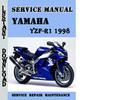 Thumbnail Yamaha YZF-R1 1998 Service Repair Manual Pdf Download