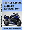 Thumbnail Yamaha YZF1000RJ(RJC) 1996 Service Repair Manual Pdf